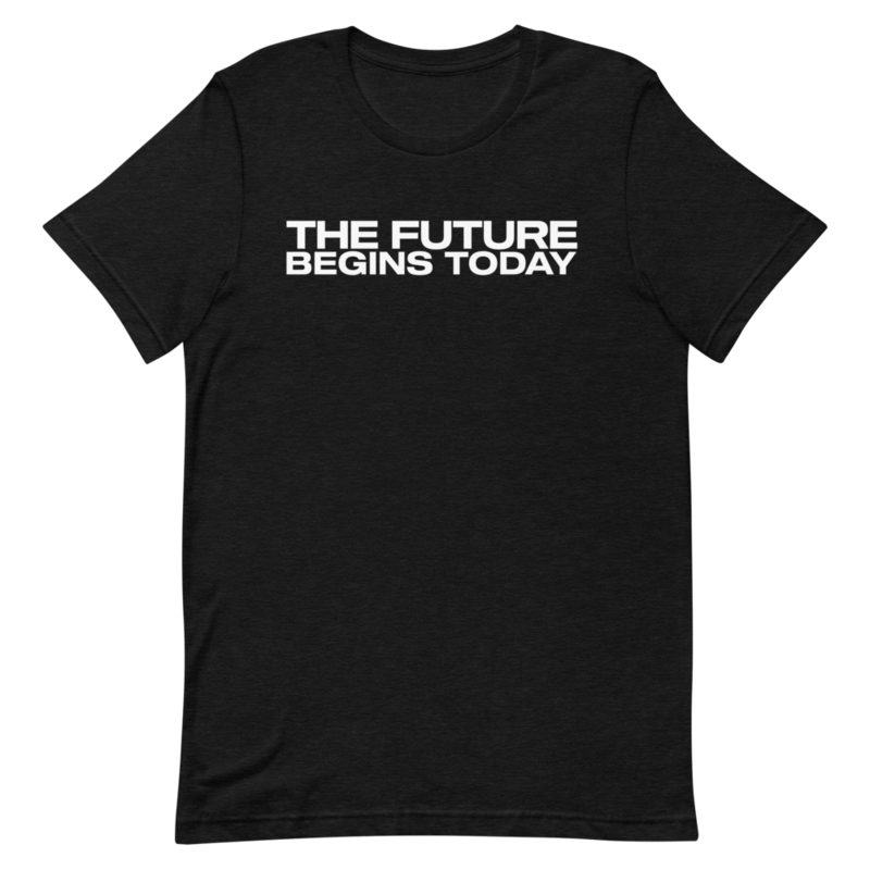 """Limited Edition """"The Future Begins Today"""" Black T"""