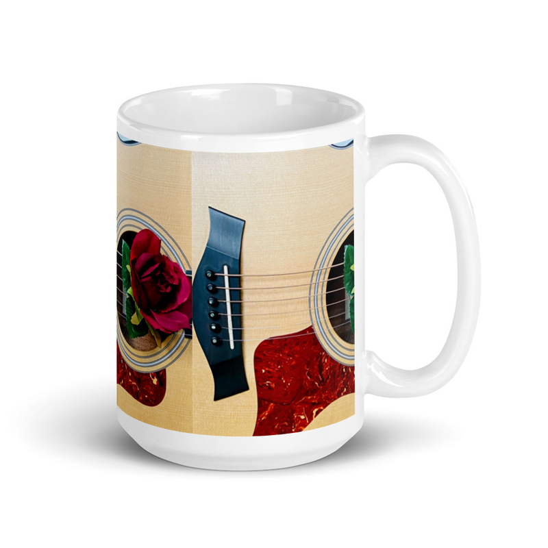 Guitar/Flower Mug