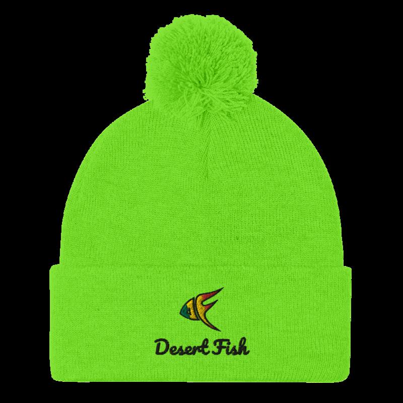 DF Logo Pom Pom Knit Cap Light Colors