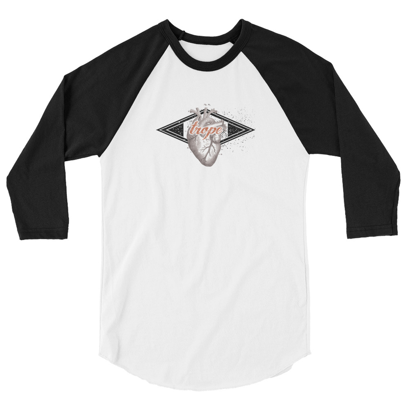 Trope 3/4 Sleeve Baseball Top