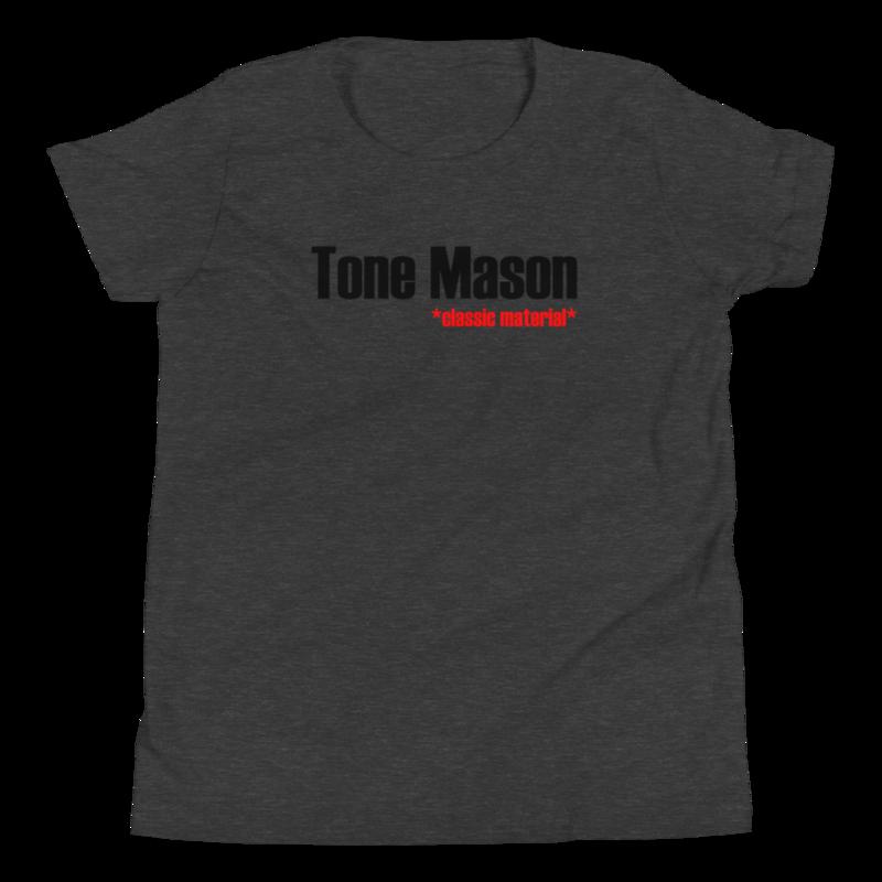 TM Classic Material BLK Logo Youth Short Sleeve T-Shirt