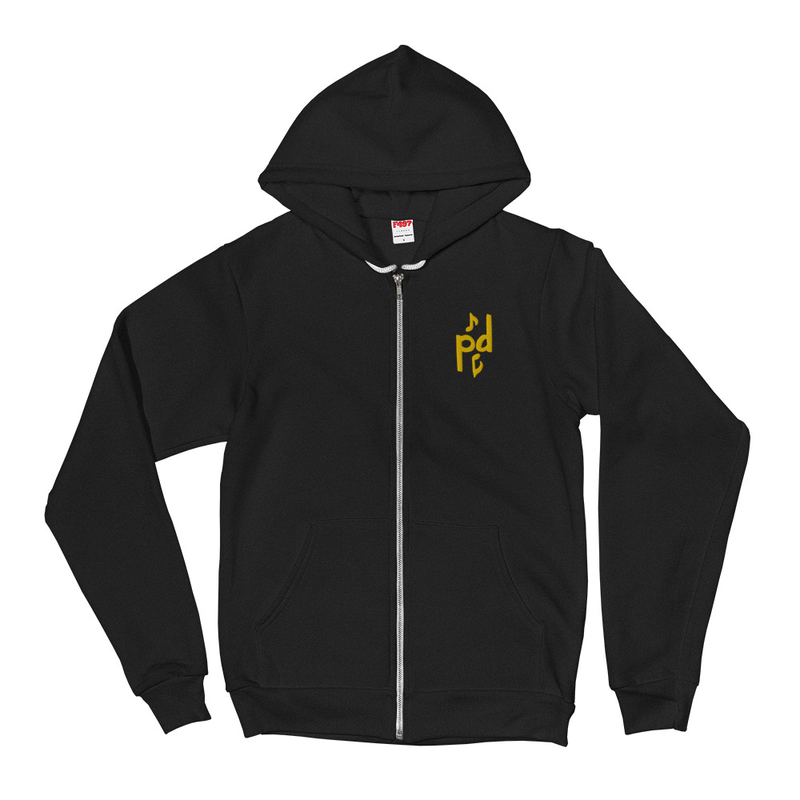 Peter Day Music Logo Zip Hoodie