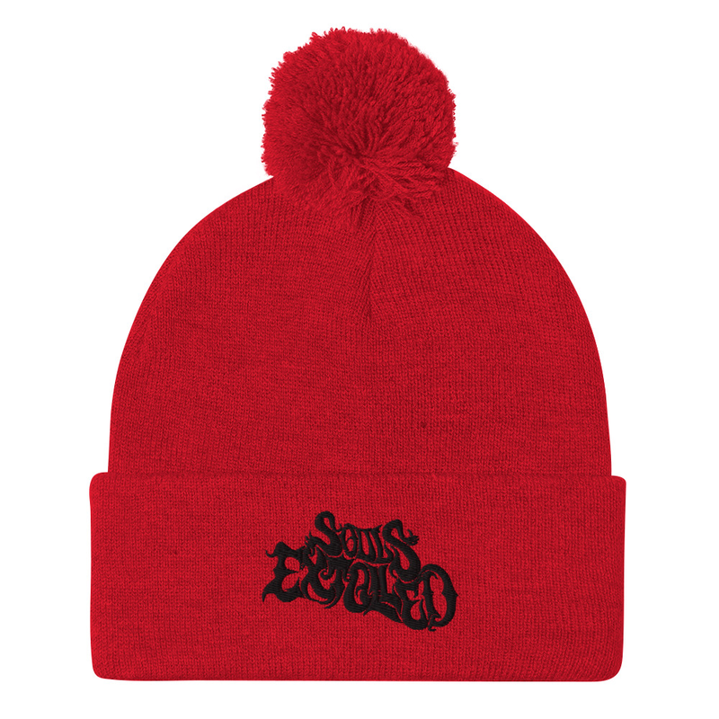 Souls Extolled Beanie - Black on Red