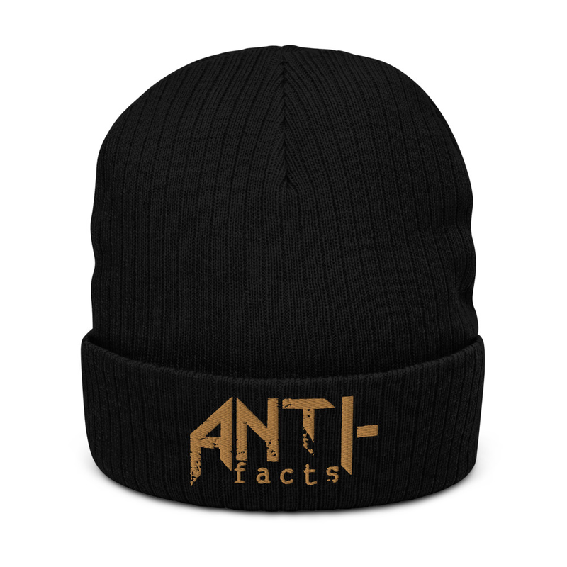 Anti-facts Recycled Cuffed Beanie