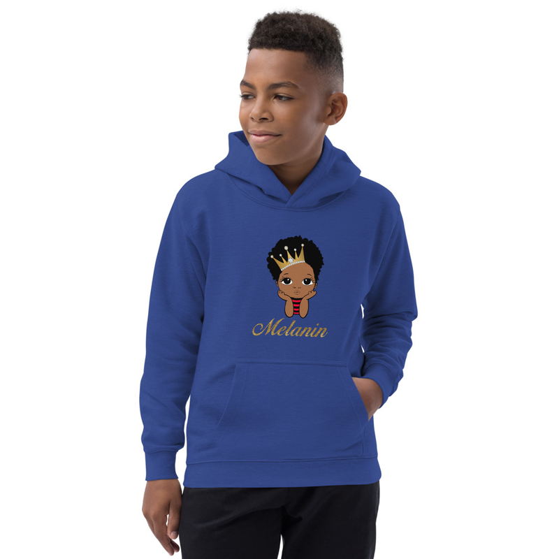 Prince Melanin Kids Hoodie