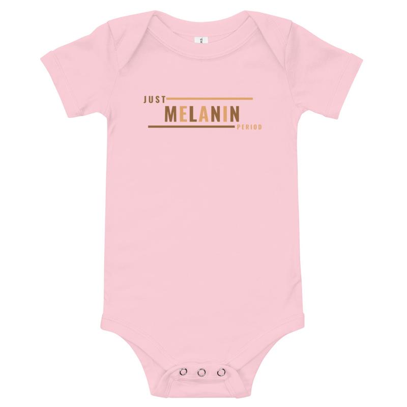 Just Melanin PERIOD Baby short sleeve one piece