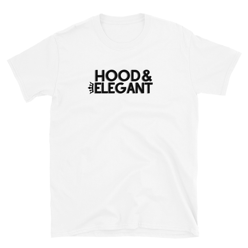 WHITE HOOD & ELEGANT T-SHIRT