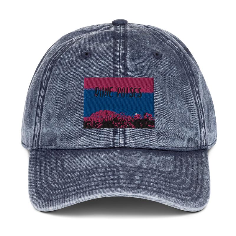 Vintage Cotton Twill Cap (Dune Pulses - Zion blue sky)
