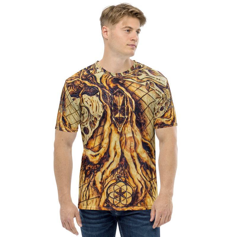 Writing with Fire all over Men's T-shirt