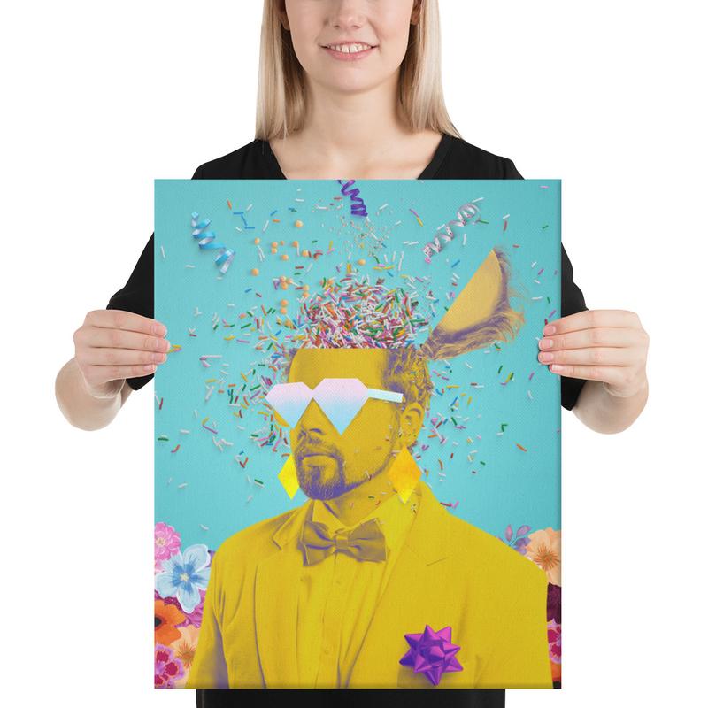 Canvas Print Polish Party Art (Blue)