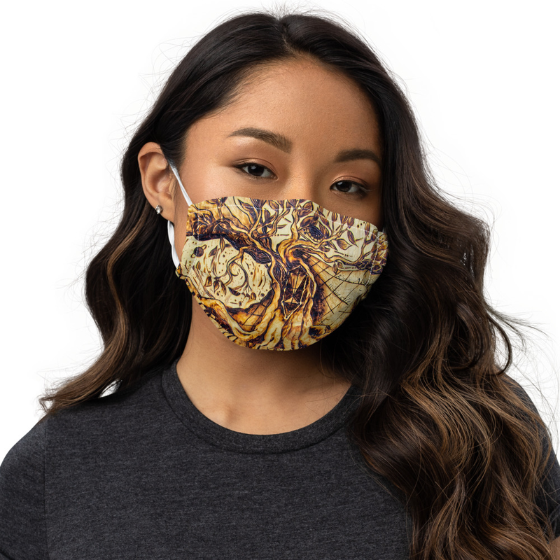 Writing with Fire Premium face mask