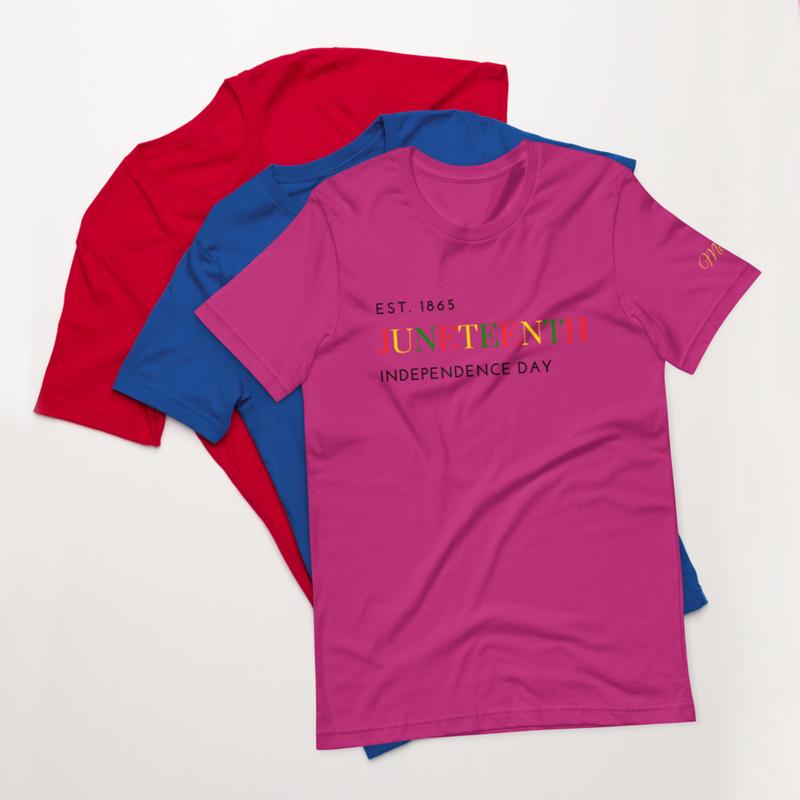 Juneteenth COLOR Short-Sleeve Unisex T-Shirt