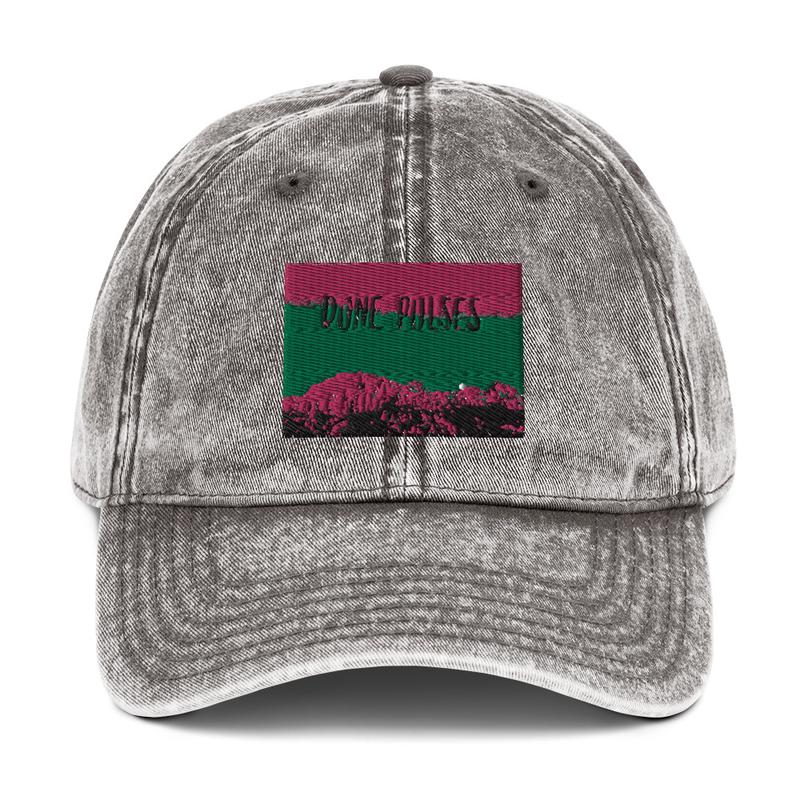 Vintage Cotton Twill Cap (Dune Pulses - Zion green sky)