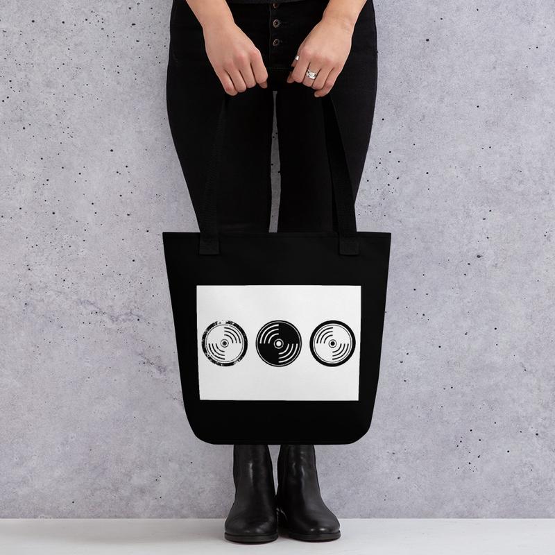 Tote bag -  Black & White Vinyl