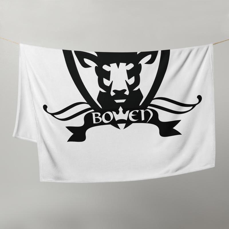 BOWEN Stag Logo Throw Blanket