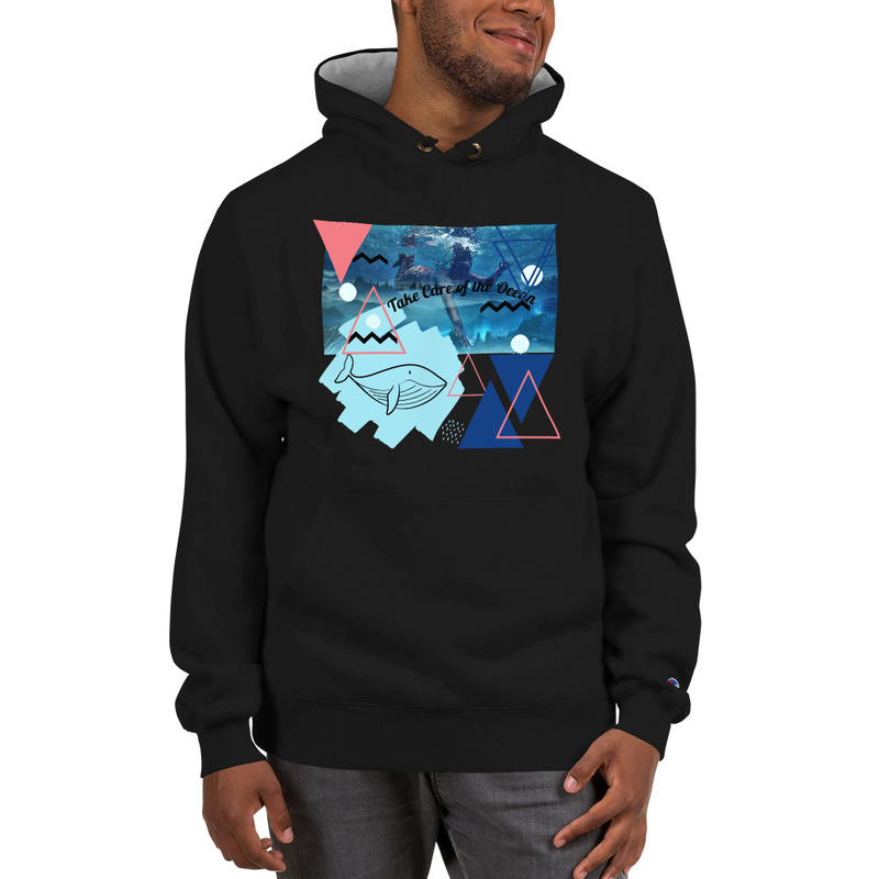 Champion Take Care of the Ocean, Love Nature Hoodie