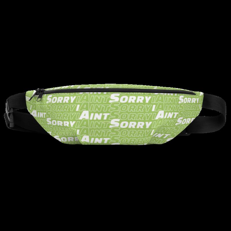 """Green """"I Ain't Sorry"""" Shoulder Bag"""