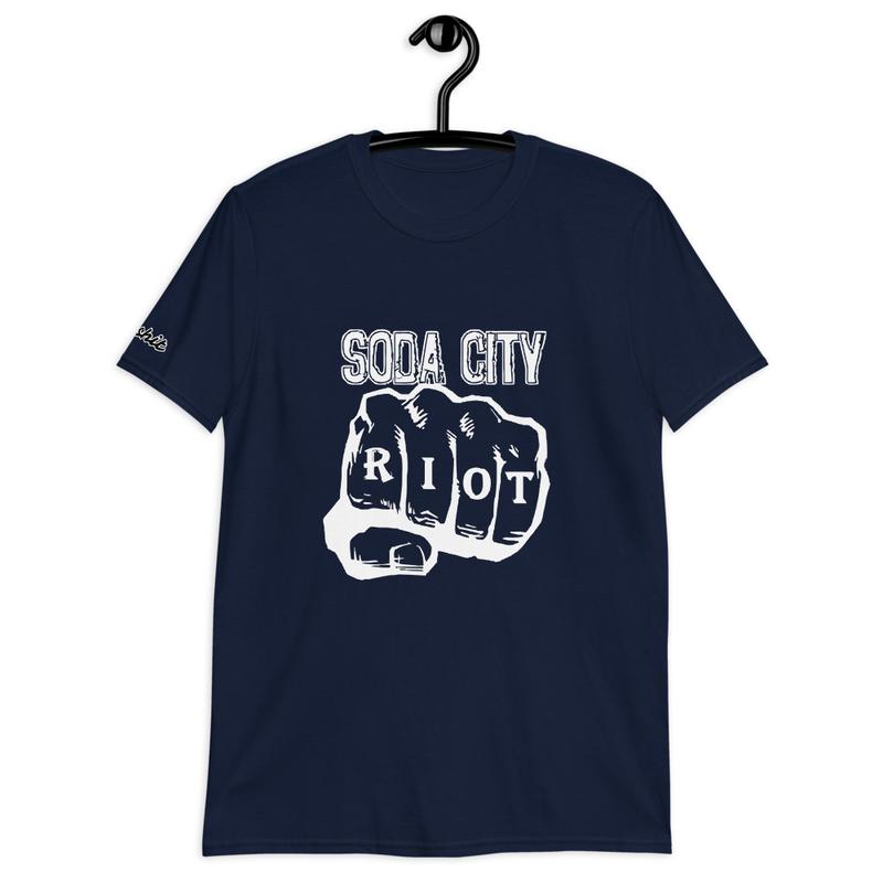 Soda City Riot Fist Shirt (Eat Shit Sleeve)