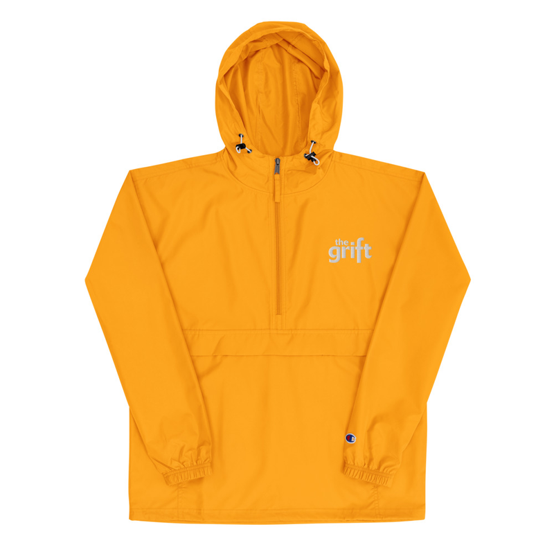 Embroidered Champion Packable Jacket - Classic Logo