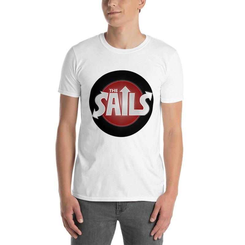 The Sails Unisex T-Shirt (Red/Black Logo on White)