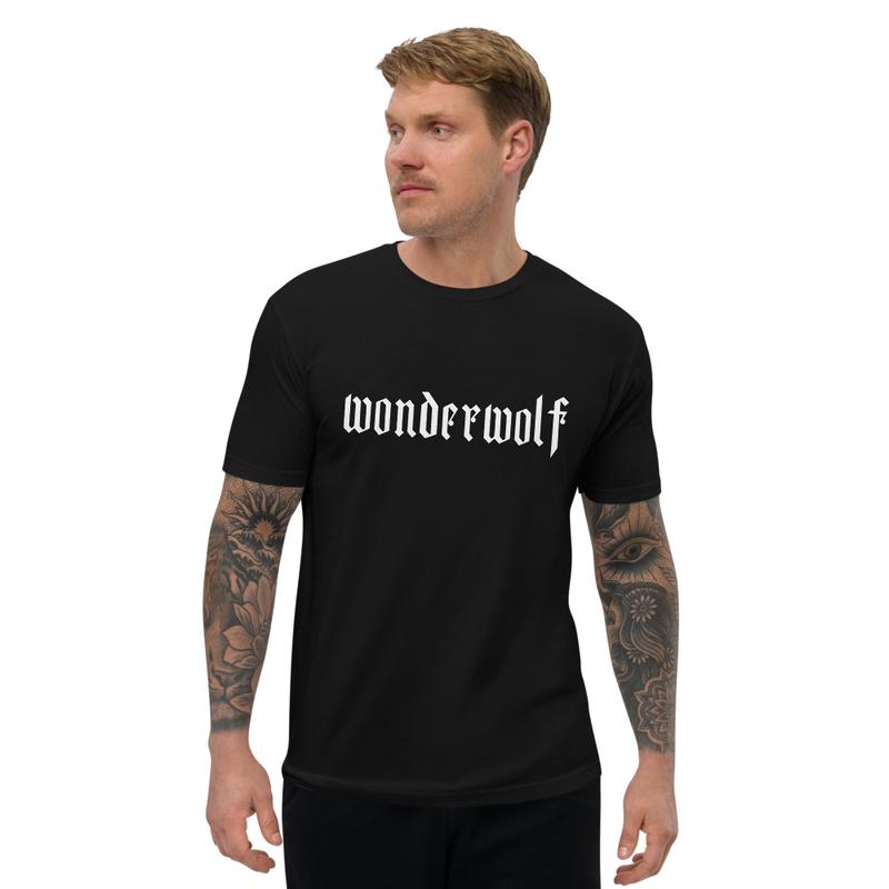 Short Sleeve Mens Fitted T-shirt - WONDERWOLF