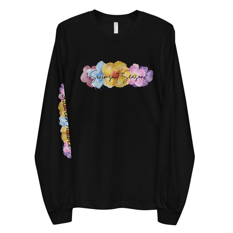 Floral Swimsuit Season Long sleeve t-shirt