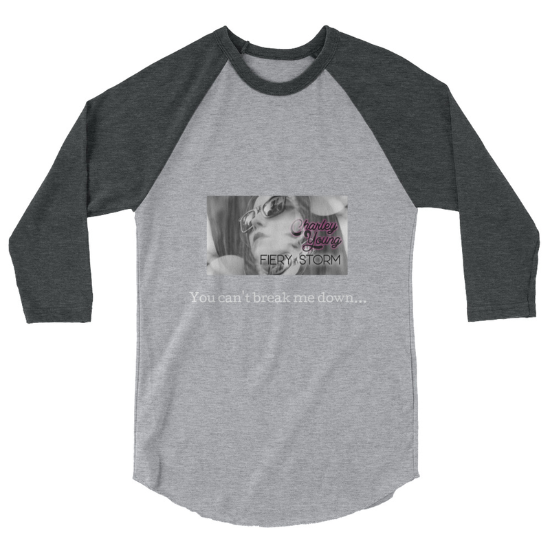 Unisex Fiery Storm 3/4 Sleeve Raglan Shirt