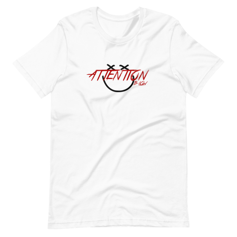 ATTENTION SMILY FACE Short-Sleeve Unisex T-Shirt