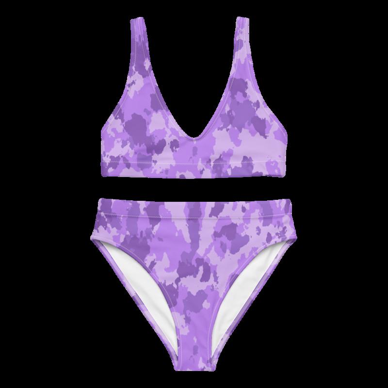 CDMG High Waist Bikini Camo Purple