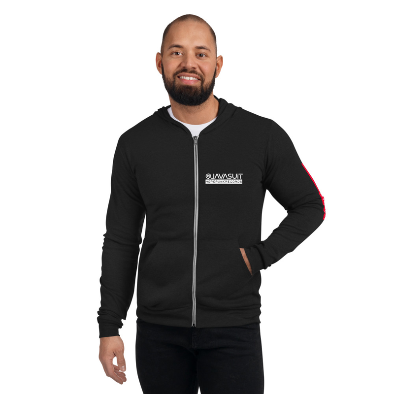 Unisex zip hoodie - LAVA SUIT