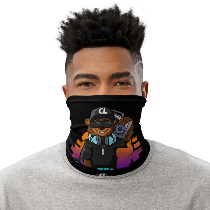 Cudlino Music On Blast Logo - Black Neck Gaiter