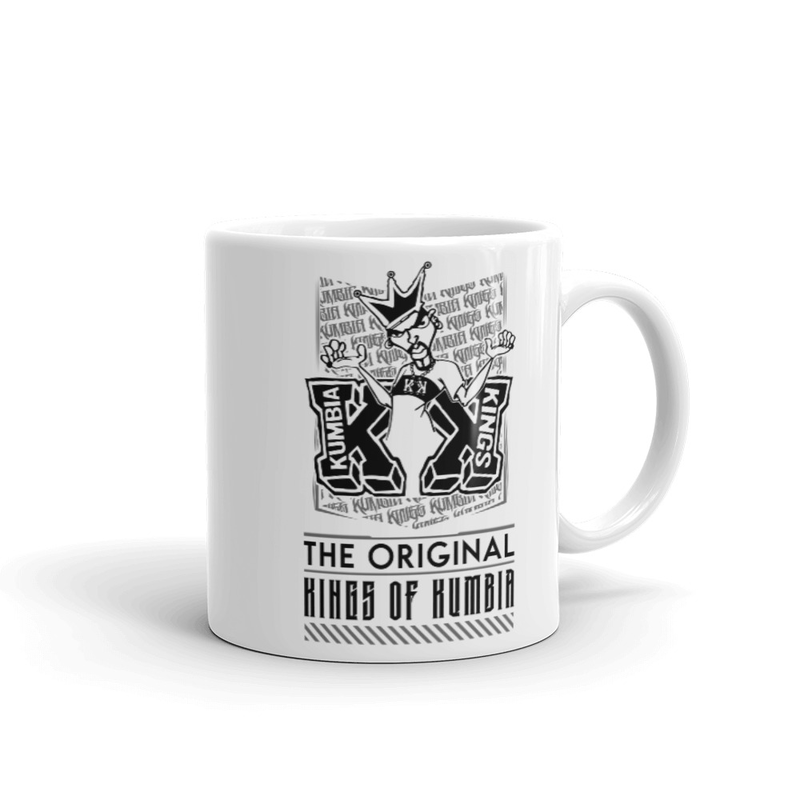 Kumbia Kings White glossy mug