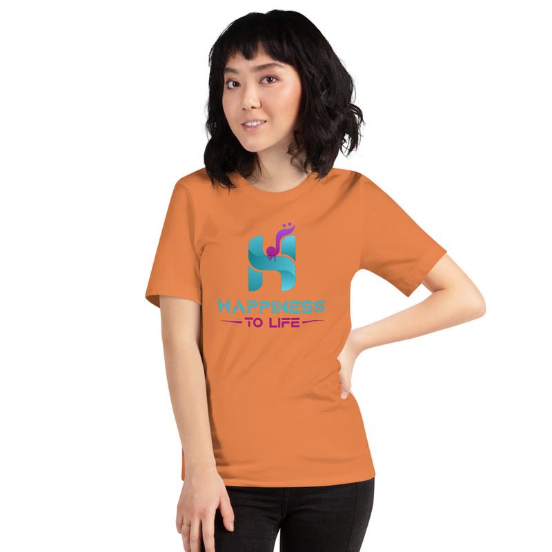 Happiness to Life Short-Sleeve Unisex T-Shirt