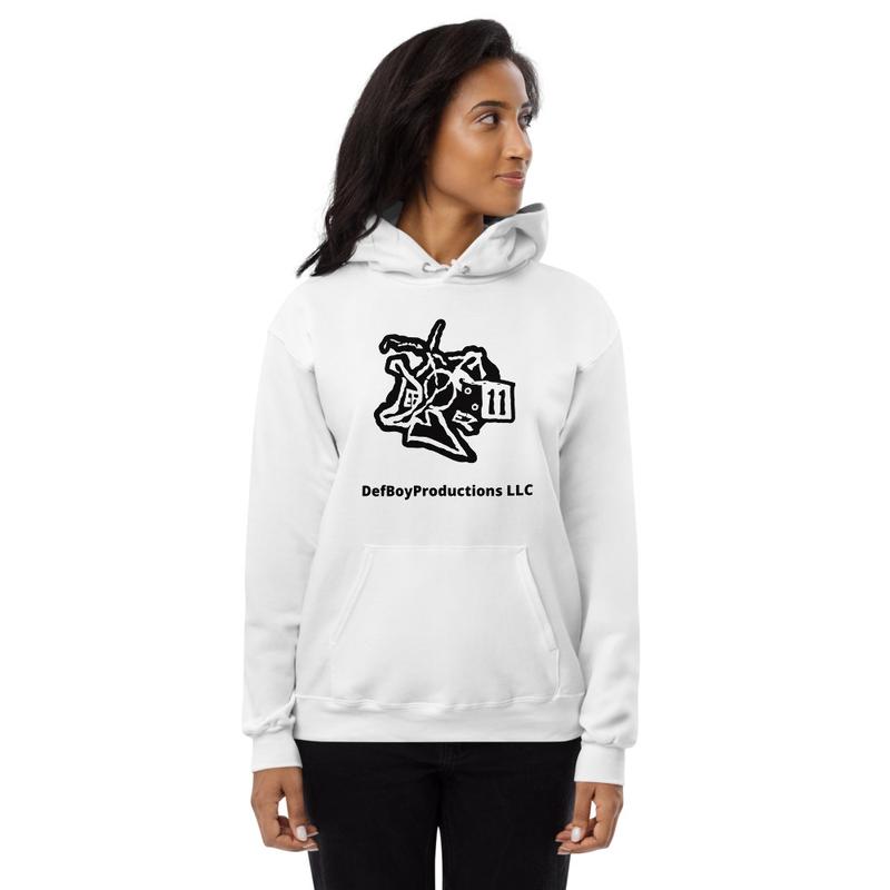 DefBoyProductions LLC Black And White Unisex fleece hoodie