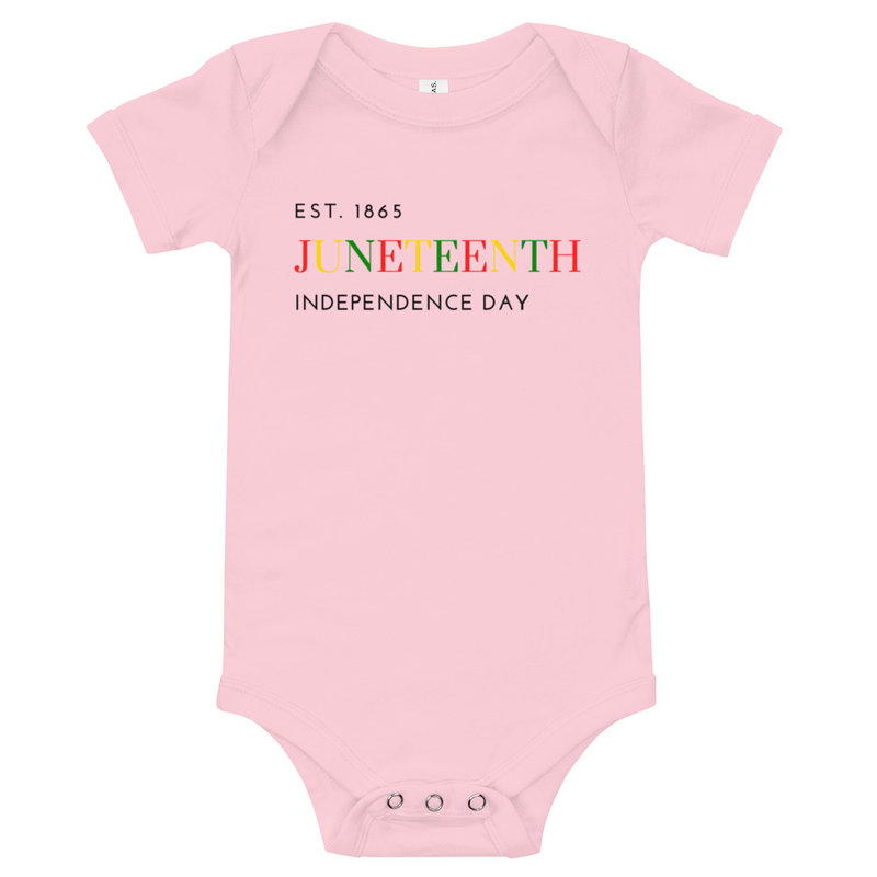 Juneteenth COLOR Baby short sleeve one piece