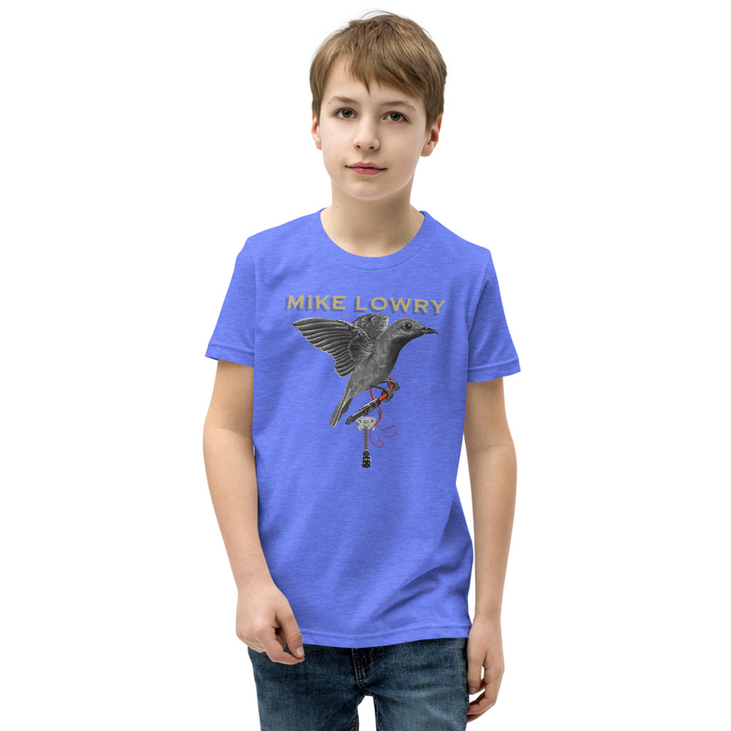 Youth Short Sleeve T-Shirt - Bird with Guitar