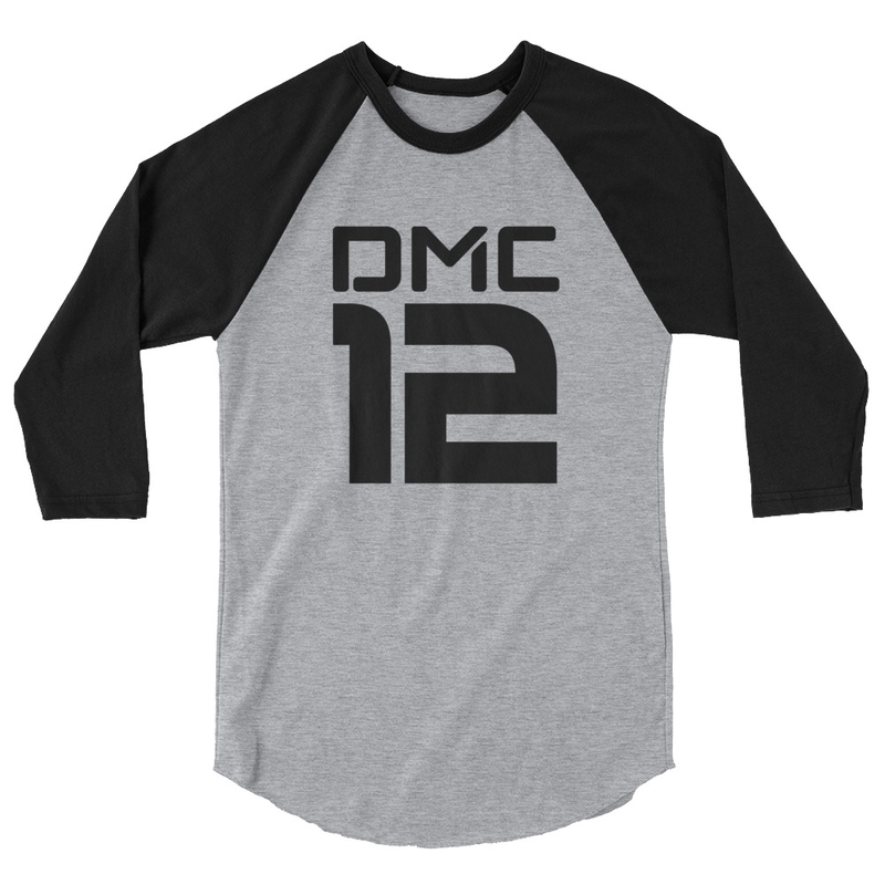 DMC12 3/4 sleeve raglan shirt