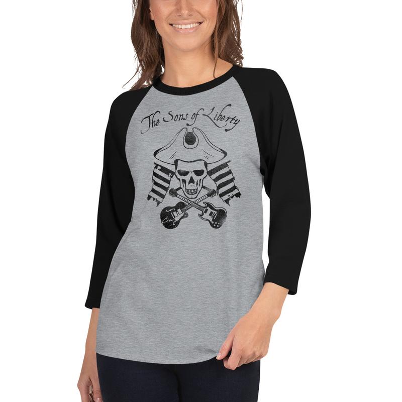 Dark Logo 3/4 sleeve raglan shirt