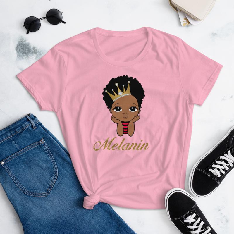 Prince  Melanin Women's short sleeve t-shirt