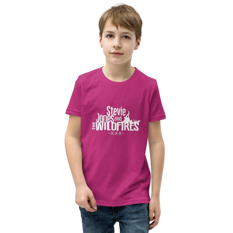 Youth Short Sleeve White Logo T-Shirt