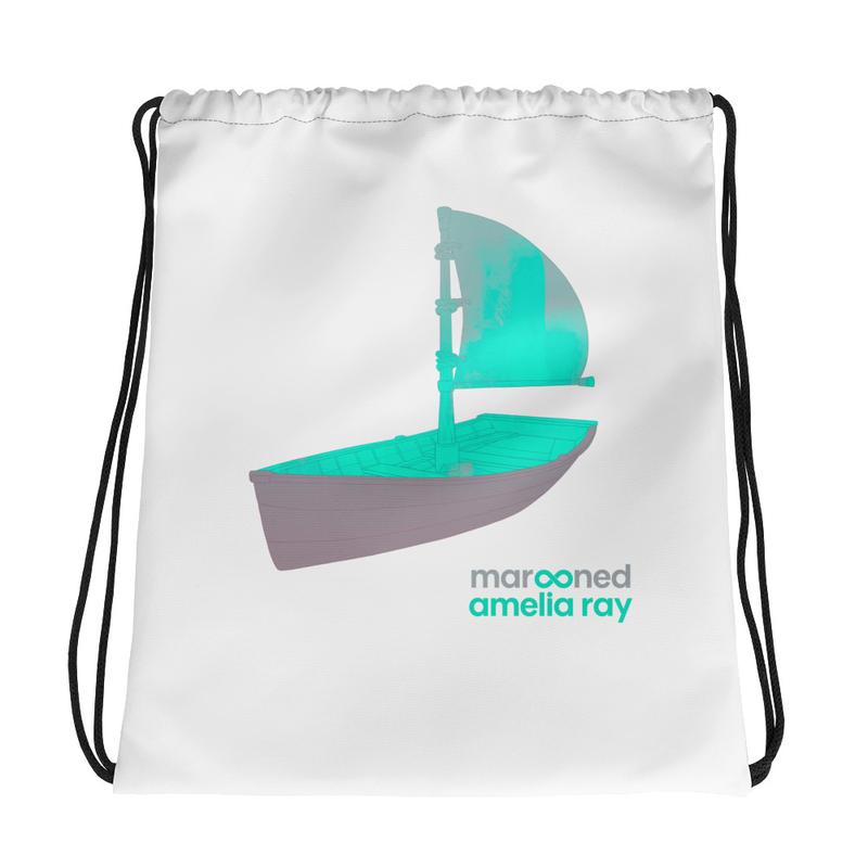 """Marooned"" Drawstring bag"