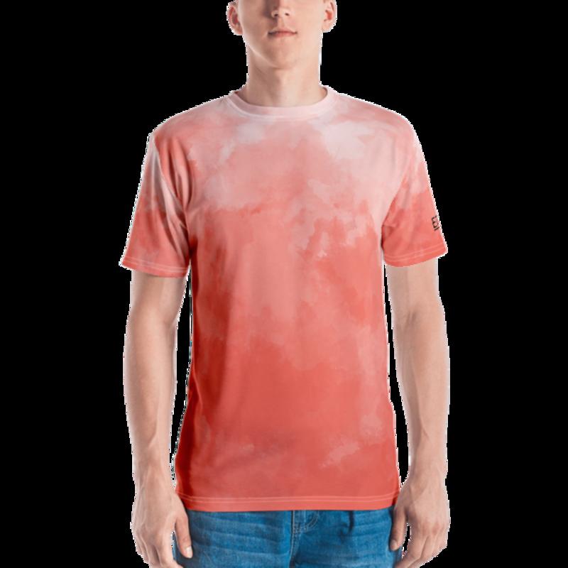 Coral Watercolor Men's T-shirt mockup