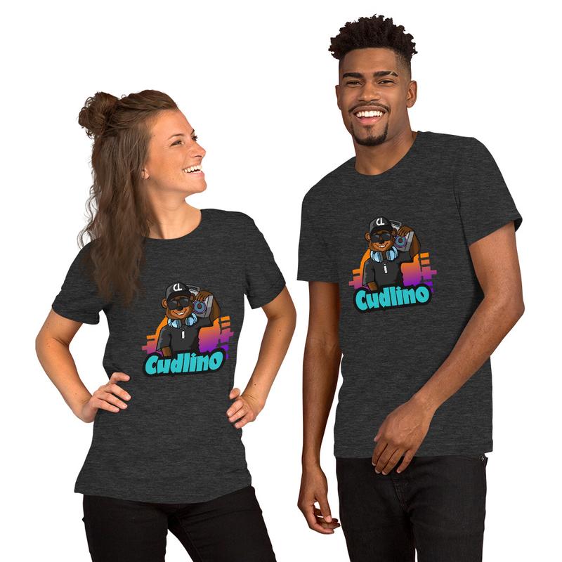 Cudlino Music On Blast Logo - Short-Sleeve Unisex Bella T-Shirt