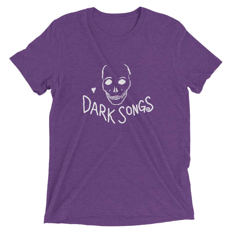 Dark Songs Tri-blend Skull Tee