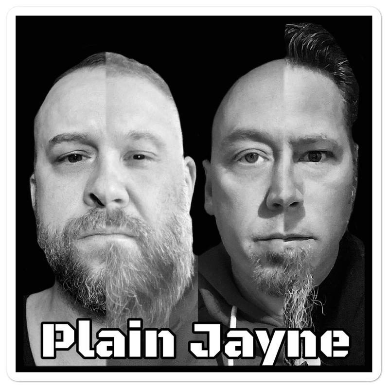 Plain Jayne Bubble-free stickers