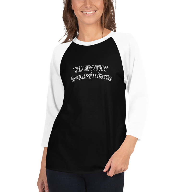 3/4 sleeve raglan Telepathy shirt