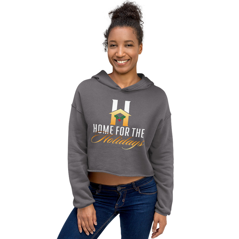 Crop Hoodie 'Home for the Holidays'