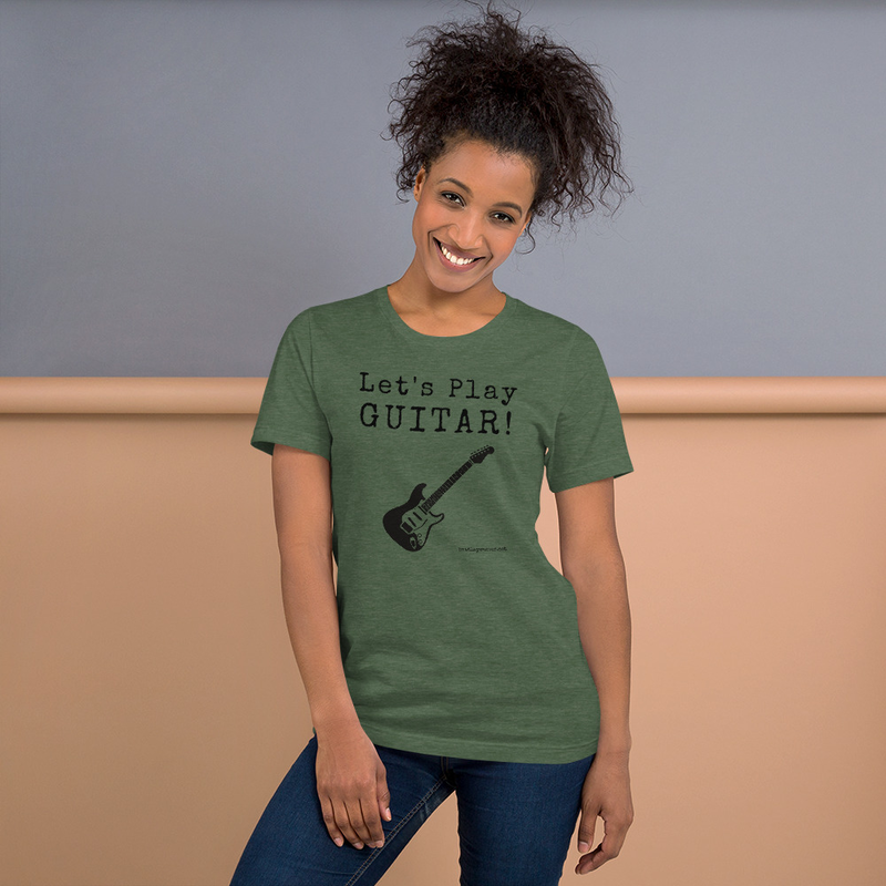 Let's Play Guitar: Unisex Tee