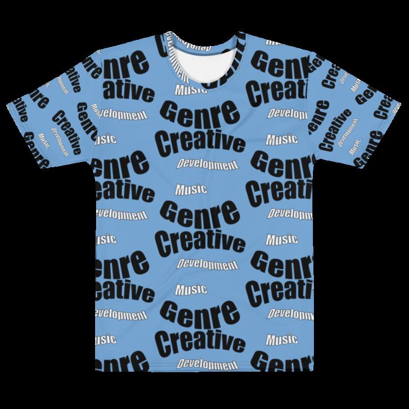 CDMG Men's T-shirt Creative- Development Muzik Genre/Blue