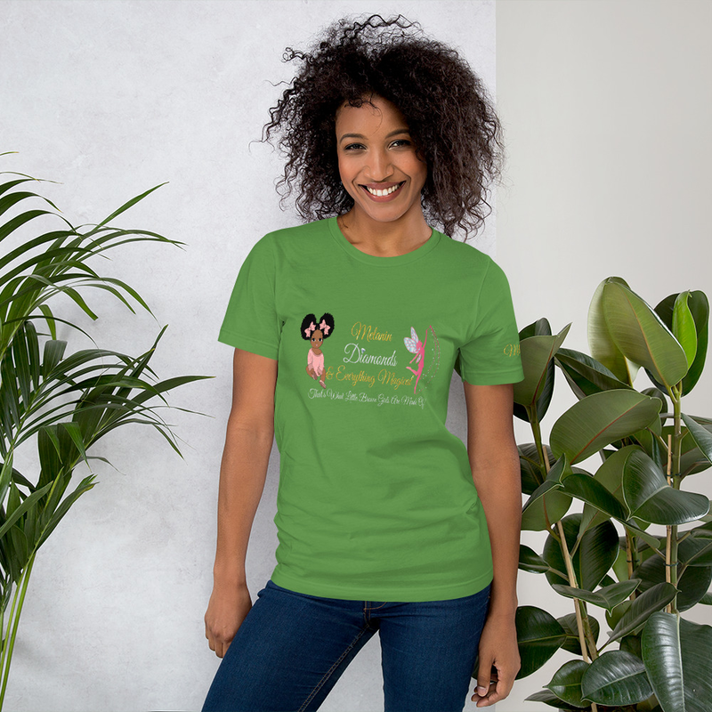 Princess Melanin Affirmation PINK Short-Sleeve Unisex T-Shirt